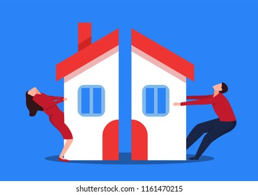Couples fighting for property