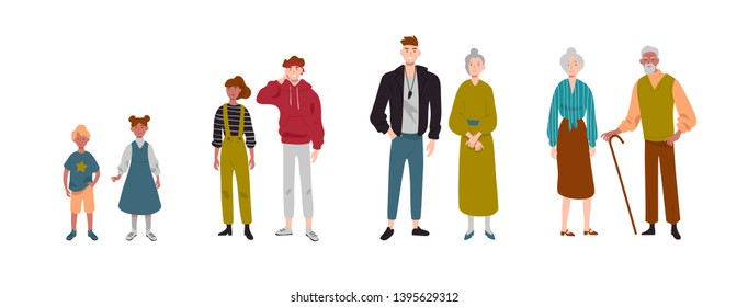 Couples of people. Children, kids, brother, sister, grandchildren, grandparents.