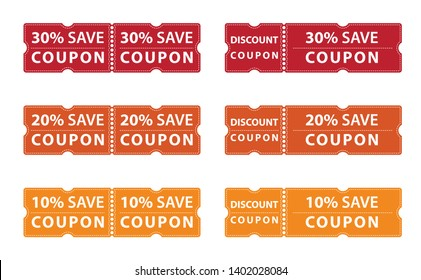 Coupon discount offer save upto 30%, 20% and 10%