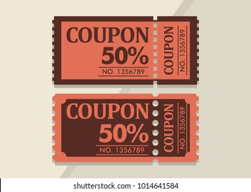 coupon discount vintage design vector template