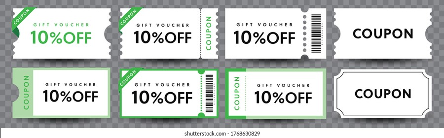 COUPON FASHION TICKET CARD  element template for graphics design. Vector illustration
