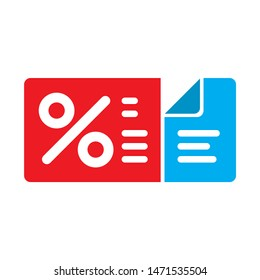 coupon icon. flat illustration of coupon - vector icon. coupon sign symbol