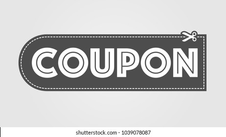 Coupon icon with scissors