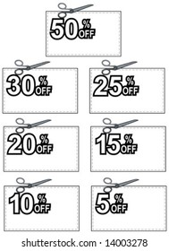 Coupon with percent off discount