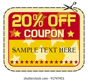 Coupon sale - twelve percent discount label