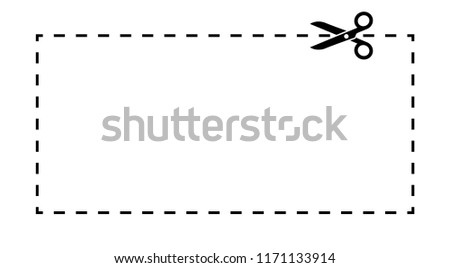coupon template dashed line scissors black stock vector royalty