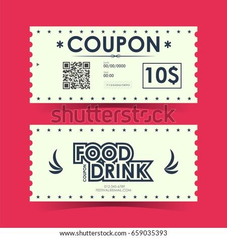 Coupon Ticket Card Element Template Design Stock-Vektorgrafik ...