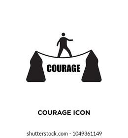 courage icon, isolated on white background,flat vector illustration can be used for web, mobile and print, courage icon, logo concept