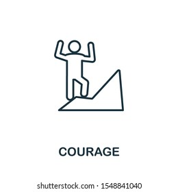 Courage icon outline style. Thin line creative Courage icon for logo, graphic design and more.