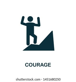 Courage vector icon illustration. Creative sign from business management icons collection. Filled flat Courage icon for computer and mobile. Symbol, logo vector graphics.