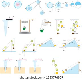 Course drawings of simple machines in chemistry class