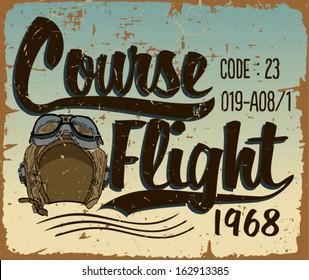 Course Flight Print Vector