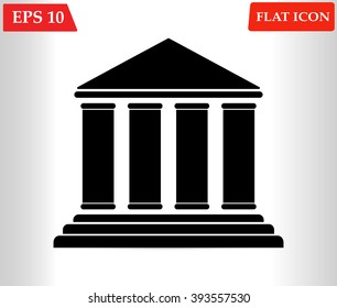 Court Building icon vector. Government Icon Vector. Government Icon flat design
