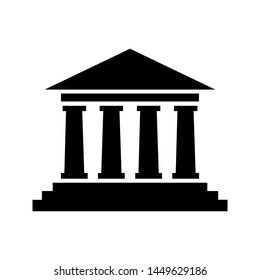 Court house vector icon. Court house symbol illustration.