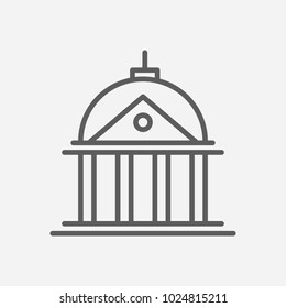 Court icon line symbol. Isolated vector illustration of  icon sign concept for your web site mobile app logo UI design.