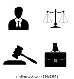 Court icons vector set