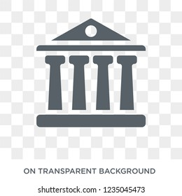 Courthouse icon. Trendy flat vector Courthouse icon on transparent background from law and justice collection.
