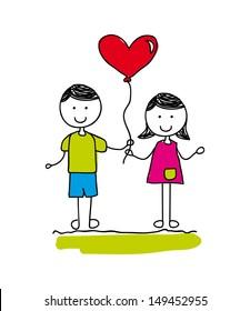 courtship design over white background vector illustration