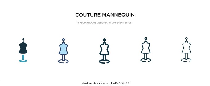 couture mannequin icon in different style vector illustration. two colored and black couture mannequin vector icons designed in filled, outline, line and stroke style can be used for web, mobile, ui