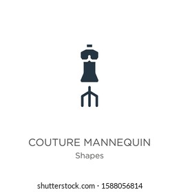 Couture mannequin icon vector. Trendy flat couture mannequin icon from shapes collection isolated on white background. Vector illustration can be used for web and mobile graphic design, logo, eps10