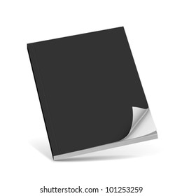 Cover black book with blank. vector illustration