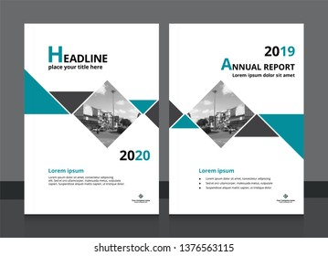 Cover blue design and annual report cover template A4 size for brochure design, magazine, poster, flyer etc. Vector illustration EPS-10 sample image with Gradient Mesh.
