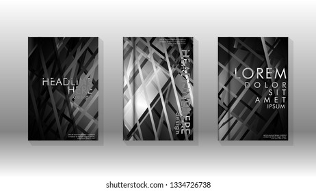 Cover book with background geometric design. Shapes lines and stripes with gradient colors. Valid for banners, placards, leaflets, poster designs, etc. Eps10 vector template