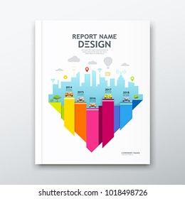 Cover book design annual report, Chart design, Brochure template layout background, vector illustration