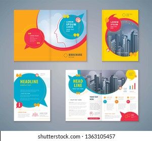 Cover Book Design Set, Colorful Speech Bubbles Background vector Template Brochures, flyer, presentations, leaflet, magazine, invitation card, annual report, social networks, talk bubbles