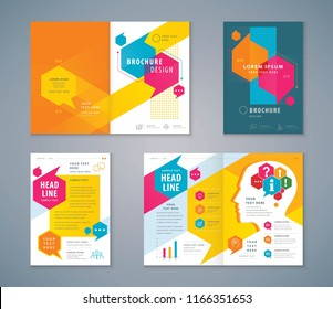 Cover Book Design Set, Speech Bubbles Background vector Template Brochures, flyer, presentations, leaflet, magazine, messages, annual report, Questions and Answers, social networks, talk bubbles
