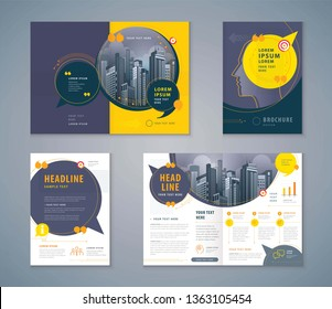 Cover Book Design Set, Speech Bubbles Background vector Template Brochures, flyer, presentations, leaflet, magazine, invitation card, annual report, social networks, talk bubbles