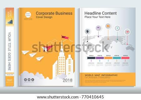 cover book design template presentation infographics のベクター画像