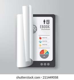 Cover Book Digital Design tablet Concept Template / can be used for E-Book Cover/ E-Magazine Cover/ vector illustration