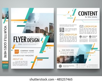Cover book portfolio presentation brochure design template vector. City concept in A4 size.Green abstract square poster layout. Business flyers report magazine.