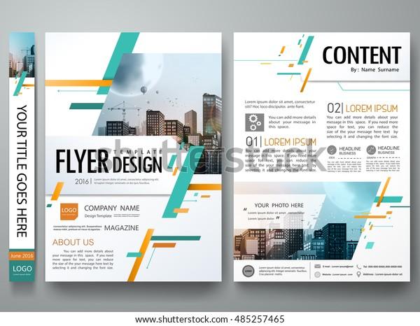 Cover Book Portfolio Presentation Brochure Design Stock