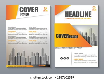Cover book presentation brochure design template vector. City concept on A4 layout. Business flyers report magazine poster.