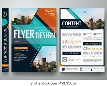 Cover book presentation brochure design template vector. Green abstract shape portfolio. City concept in A4 layout.Business flyers report magazine poster.