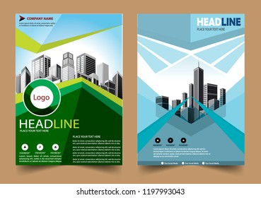 cover Brochure layout annual report poster flyer in A4 with geometric shape