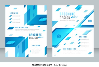 Cover design abstract background, Busines, blue color broshure, Template in A4 size. Book, Magazine, Corporate Presentation, Annual Report, Poster, Website, Flyer, Portfolio, Banner