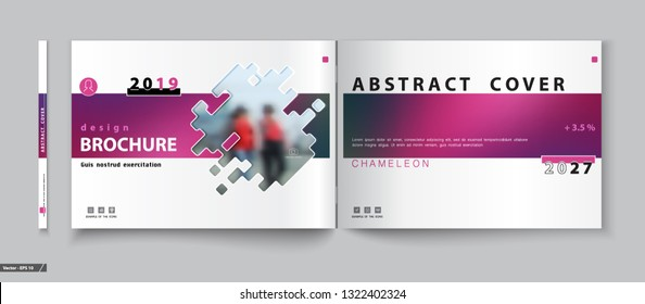 Cover design. Abstract template brochure. Walking girls in the city. Banner, thumbnail, catalog, layout. Red techno design. Booklet, album, poster. Annual report, title. Ad text, font, inscription