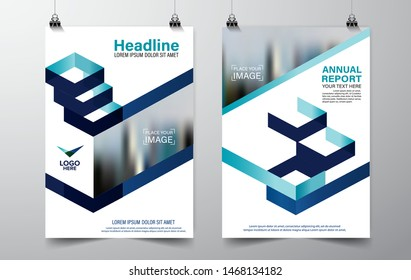 Cover design of annual report cover brochure, Vector modern abstract background template, layout A4 size page, eps 10