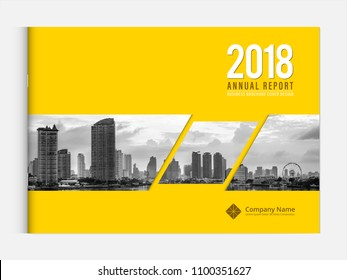 Cover design for annual report business catalog company profile brochure magazine flyer booklet poster banner. A4 landscape template element cover vector EPS-10 sample image with Gradient Mesh.
