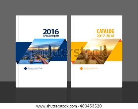 cover design annual report business catalog のベクター画像素材