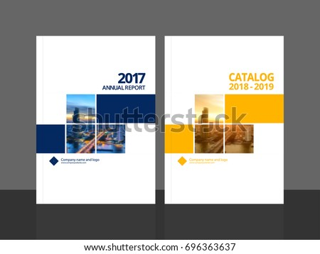Cover Design Annual Report Business Catalog Stock Vector Royalty