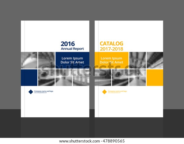 Cover design for annual report and business catalog, magazine, flyer or booklet. Brochure template layout. A4 cover vector EPS-10 sample image with Gradient Mesh.