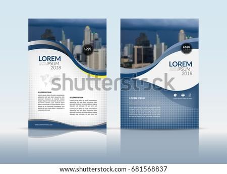 cover design annual report cover flyer のベクター画像素材