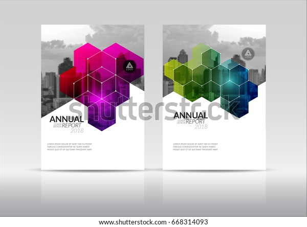Cover Design Annual Report Flyer Presentation Stock Vector