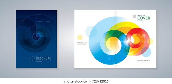 Cover design annual report, vector template brochures, flyers, presentations, leaflet, magazine