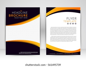 Cover design annual report,vector template brochures, flyers, presentations, Leaflet cover,  Abstract flat background, layout in A4 size