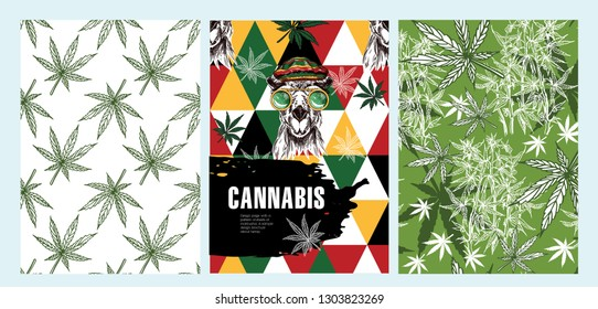 Cover design of the brochure about hemp